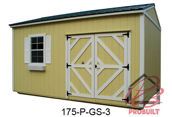 Probuilt Portable Buildings Deluxe Painted Wood Buildings