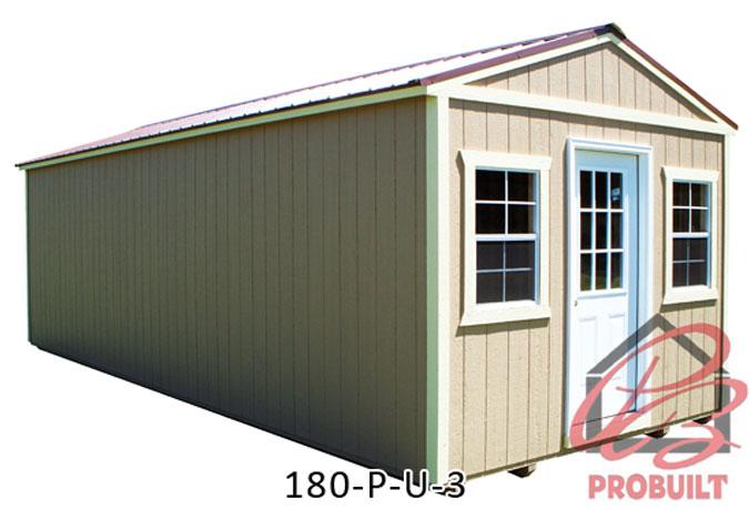 Probuilt Portable Buildings Deluxe Painted Wood Buildings